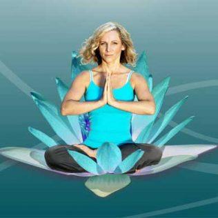 Geraldina Vaicenkauskiene in a yoga pose