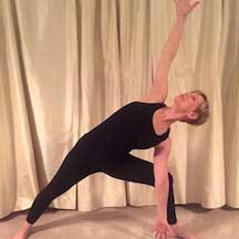 Jill Lansu in a yoga pose