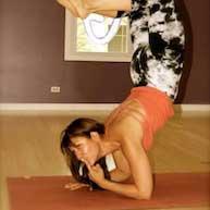 Nadja Lalvani in a yoga pose