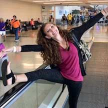 Nikki Bergman in a playful pose